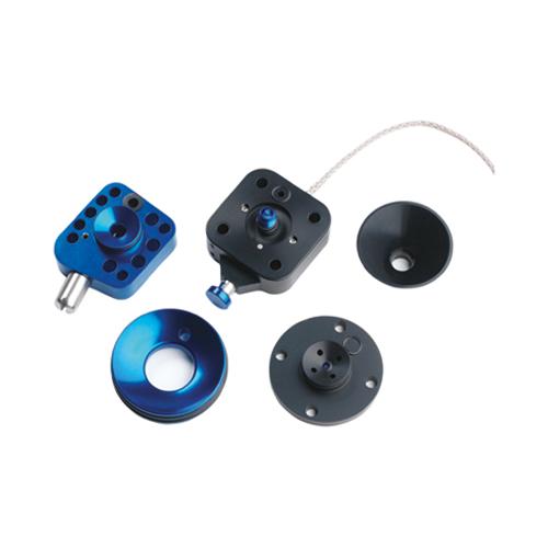 Bilden visar alpha interlock in metallic blue colour